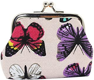 Women's Butterfly Small Wallet Card Holder Coin Purse Clutch Bag Handbag Fashion White