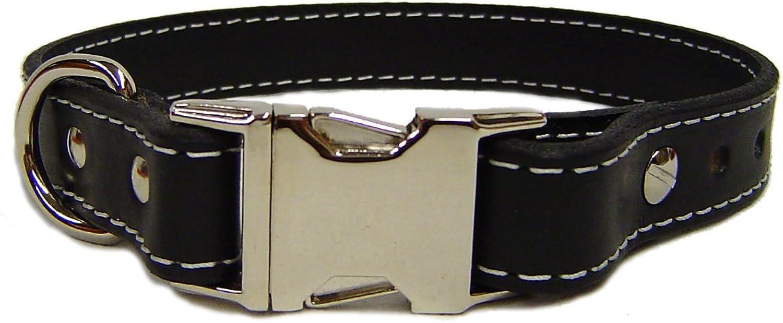 Auburn Leathercraft Seneca collar 3 4  x16  BLACK