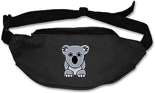 Koala Grey Australia Running Belt Waist Pack for iPhone x 8 7 Plus Runner Workout Waterproof Runners Belt Phone Fanny Pack for Men,Women,Hiking Cycling,Travel,Workout,Sports