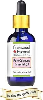 Greenwood Essential Pure Oakmoss Essential Oil (Evernia prunastri) with Glass Dropper 100% Natural Therapeutic Grade Steam Distilled 10ml (0.33 oz)