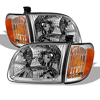 ACANII - For 2000-2004 Toyota Tundra Regula/Access Cab Headlights+Parking Lights corner Lamps Driver + Passenger Side