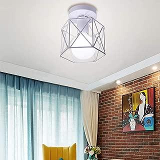 Estilo Nórdico Retro Lámpara de Techo Industrial Luz E27 Metal Decorativa Comedor Dormitorio Baño Restaurante Pasillo 40W Blanco