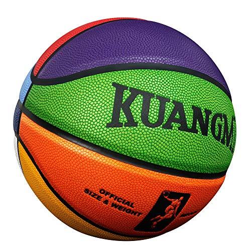 Pelota de Baloncesto Niños Tamaño Exterior Oficial Kuangmi Entrenador Baloncesto 6 3 Juego PU 4 Aguja Regalo para Niños 7 Baloncesto 5 Tiro Interior Bola De Red