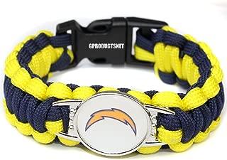 NFL Los Angeles Chargers Paracord Bracelet for Women & Men - Paracord Survival Strap Bracelet