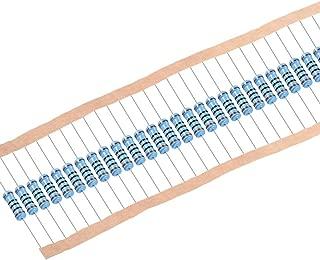 sourcing map 100piezas Resistencias de película metálica de 100 Ohm 2W 1% Tolerancias 5 bandas de color