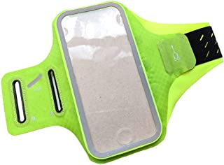 DFV mobile - Professional Cover Chinlon-Lycra Ultra-thin Armband Sport Walking Running Fitness Cycling Gym for Vivo iQOO Pro (2019) - GREEN
