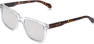 نظارات شمسية مربعة Fos 2076/s للرجال من فوسيل، كريستال، 54 ملم (2076-S)