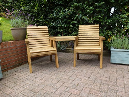 Riverco Trading Wooden Companion Seat - Outdoor Solid Wood Garden Patio Furniture