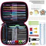 Anpro 100 PCS Accessoires Nécessaires à Tricoter 22PCS Crochets de Tricot Aluminium Assortiment de crochets...