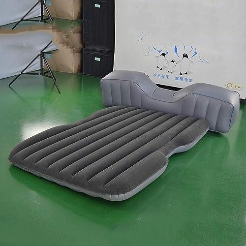 Giow Lit Gonflable Antichoc de lit de Voyage extérieur Adulte portatif Pliable de Voiture de lit portatif Gonflable de Voiture Comprenant l'air de lit Gonflable d'air de Voiture de lit de Voyage