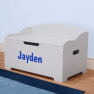 DIBSIES Personalization Station Personalized Modern Expressions Toy Box (Gray Signature Series Boys)