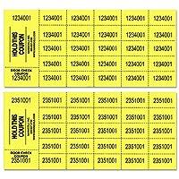 オークションチケット- 1000シート - アソートカラー