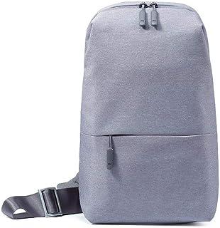 Xiaomi Sling Chest Bag Waterproof Sling Bag Urban Leisure Shoulder Bag Sport Backpack Unisex Rucksack (Light Grey)