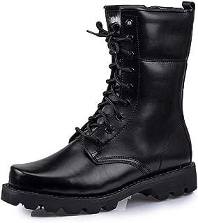 Hommes Bottes de Cuir Militaire Bottes veloutées d'hiver Patrouille Combat Tactique Recrues Armée Désert Sécurité Militair...