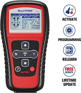 Autel TPMS Relearn Tool TS401, Tire Pressure Monitor Sensor Reset Tool for GM, Ford and More Vehicle Brands. TPMS Reset, Sensor Activation, Program, Key Fob Testing, with Lifetime Update