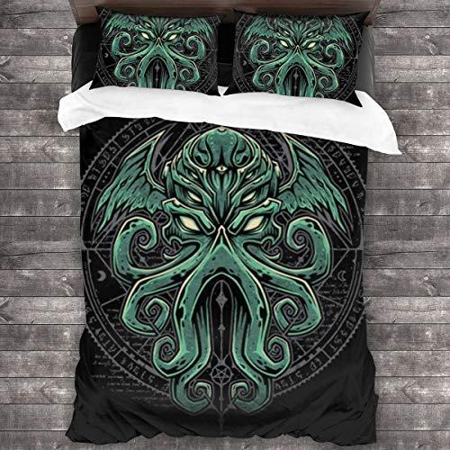 Edredón de lujo de tres piezas, funda de edredón de cuatro estaciones para cama en primavera y verano, ropa de cama en invierno –...