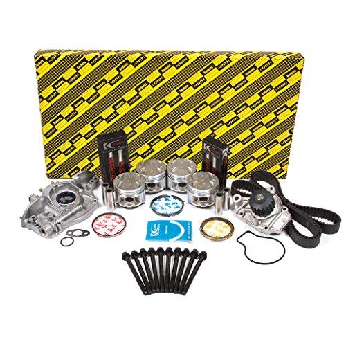 Evergreen OK4026M/0/0/0 Fits 88-95 Honda CRX Civic Del Sol 1.5L SOHC 16V D15B1 D15B2 D15B7 D15B8 Master Overhaul Engine Rebuild Kit