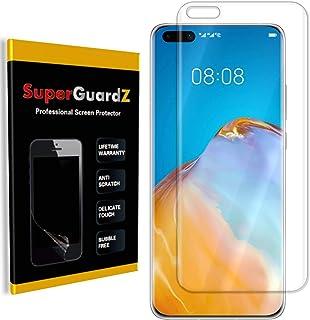 [عبوة من 3 قطع] واقي شاشة Huawei P40 Pro [تغطية كاملة]، SuperGuardZ، حماية من الحافة إلى الحافة، فائق الشفاف، طبقة من البو...