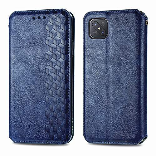 Trugox Handyhülle für Oppo Reno 4Z 5G Hülle Leder Klapphülle mit Kartenfach Ständer Flip Hülle für Oppo Reno 4 Z 5G - TRSDA120702 Blau