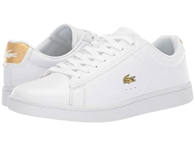 Lacoste Carnaby Evo 219 1 SFA (White/Gold) Women