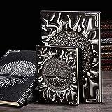 FEICHAIQAZ Cuaderno Dorado El árbol de la Vida Planificador Retro Libro de Bronce Material Escolar Oficina Cultura y educación, Plata, A6