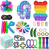 YYTP Fidget Toy Pack Barato, 30 Pack Fidget Toys con Simple Dimple para Aliviar El EstréS Y La Ansiedad, Hot Toys Fidget Toys Set De Juguetes Sensoriales para NiñOs y Adultos