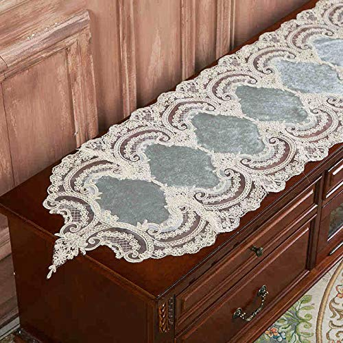 Generico Exquisitely Embroidered Lace Table Runner, Used For Wedding Party Event Table Decoration, Can Be Washed 40x180cm
