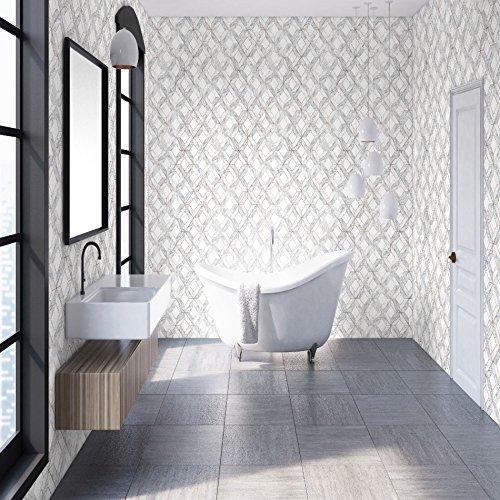 Papel pintado de baño de la cocina del marquetería del mármol gris del