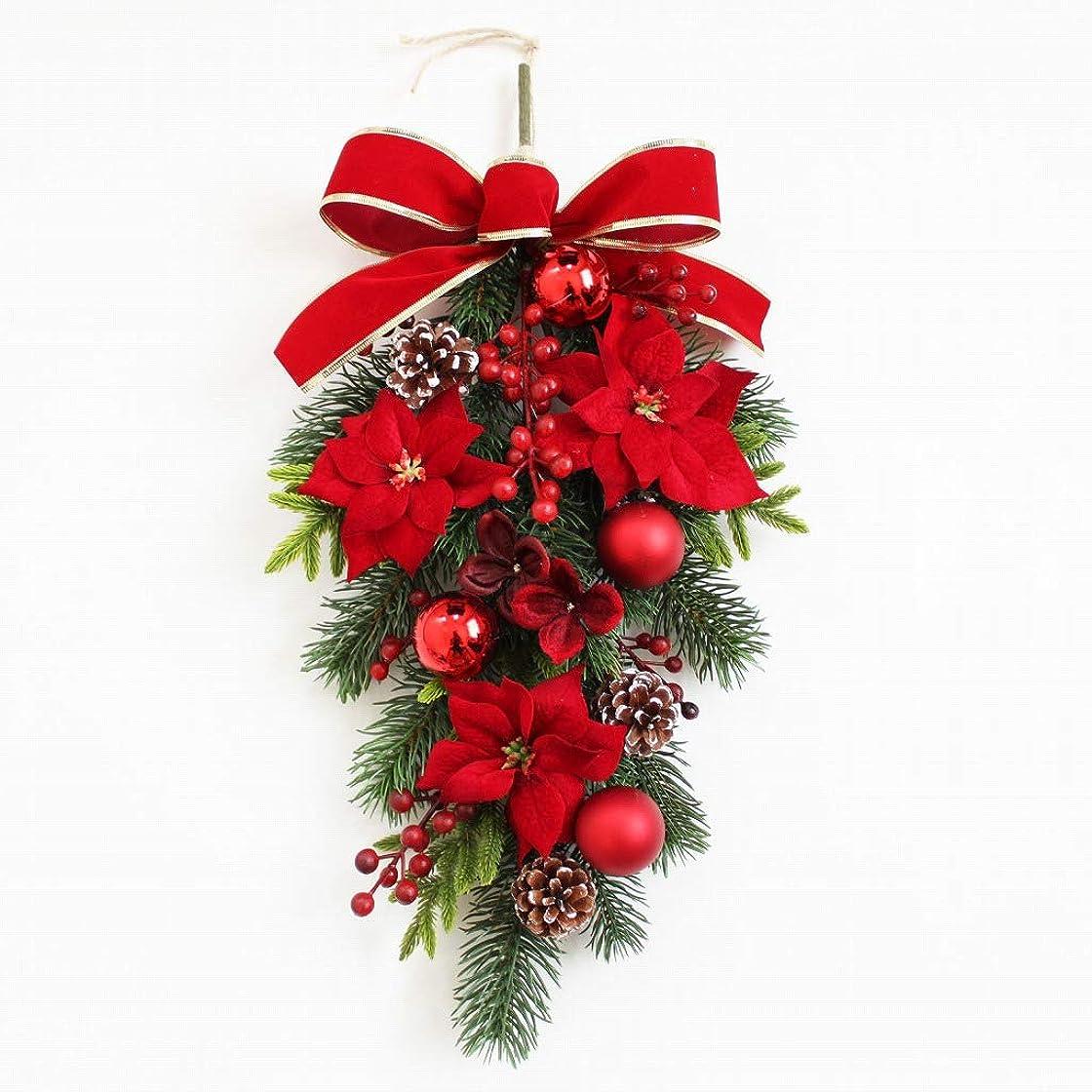 寝室カーフ女の子グランドグルー クリスマスリース クリスマス飾り クリスマス玄関飾り スワッグ 造花 アーティフィシャルフラワー 玄関飾り 壁掛け
