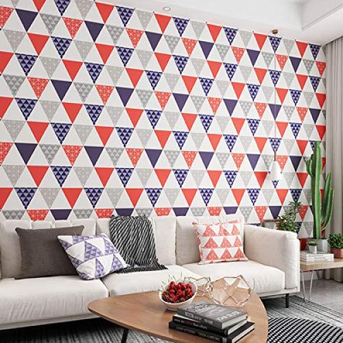 Behang Wallpape Nordic Stijl Modern Geometrisch Behang 3D Driehoek Ruit Vliesbehang Roll Woonkamer Slaapkamer Home Decor Behang-Bs1037 05_5.3㎡