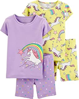 Carter's Girls' 4-Piece Snug Fit Cotton Pajamas