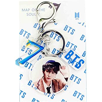Map of The Soul 7 Keychain Keyring Sac Accessoire Bangtan Boys Pendentif Arme Fans Cadeau HughFan Kpop Porte-CLS Style 01 Jimin-4