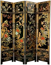 Oriental Furniture 6 ft. Tall Four Seasons Flowers Screen