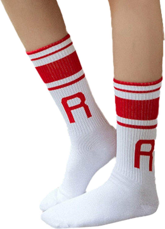 PASATO Women Ladies Letter Socks Warm Cool Stripe Ankle Socks Casual Funny Long Cute Socks