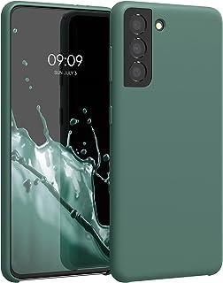 kwmobile telefoonhoesje compatibel met Samsung Galaxy S21 - Hoesje met siliconen coating - Smartphone case in dennengroen