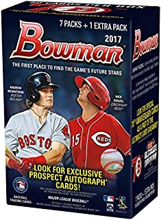 2017 Bowman MLB Baseball Series Unopened Blaster Box Made By Topps Possible Prospects, Retail Exclusive Inserts and Autographs