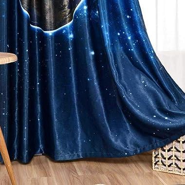 Rideau Occultant Drapé,Modèle De Planète Chambre d'enfant Enfants Isolation Thermique Voilage,Rideau De Grommet 1 Panneau