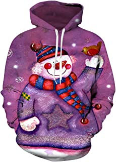 Hoodies Animal Printed Pullover Sweatshirt Boys 3D Cartoon Graphic Sweatshirt Pocket Pullover Hoodie,1,M