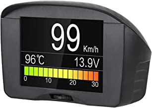 AUTOOL OBDII OBD2 Digital KMH/MPH Car HUD Speedometer & Overspeed Alarm Auto Voltage Meter Water Temperature Gauge with LCD Display for 12V Most Petrol & Diesel