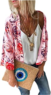 iSkylie Womens Chiffon Top T-Shirt Blouses Shawl Printed Sweatshirt Open Front Lace Kimono Cardigan Cover Up Flare Sleeve Coaches' & Referees' Gear Marker Boards