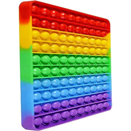 iRoom プッシュポップ スクイーズ玩具 知育 ストレス解消 フィジェット (正方形)