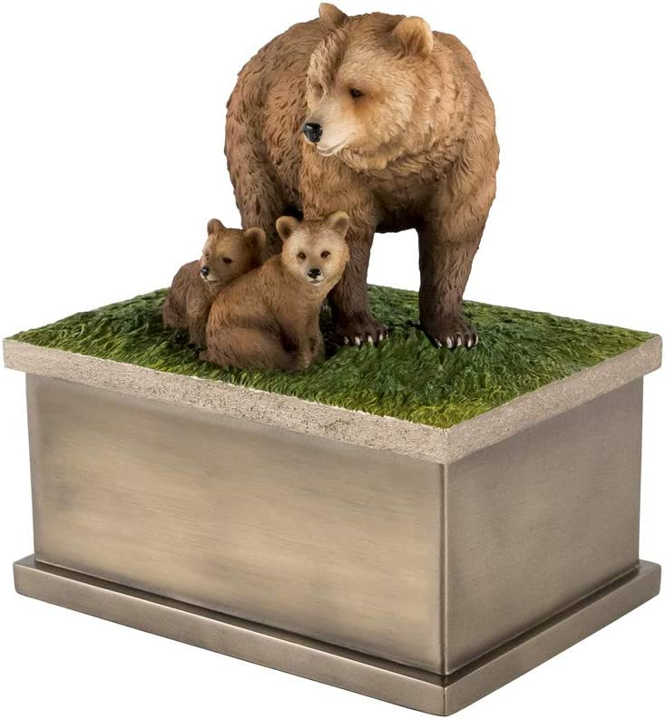 Perfect Memorials Small Popular brand Charlotte Mall Bear Cubs Urn Cremation with