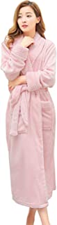 Long Robes for Women Plush Soft Fleece Bathrobe Full Length Sleepwear Dressing Gown