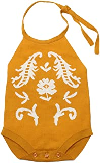 Baby Girls Knitted Romper Toddler Sling Sleeveless Jumpsuit Spring Summer Backless Clothes