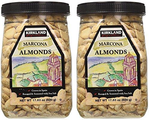 Kirkland eSybYD Marcona Almonds, Roasted and Seasoned with Sea Salt, 20.7 Ounce (2 Pack)