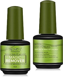 2Pack Gel Nail Polish Remover, Magic Acetone Nail Polish Remover, Easily, Quickly, Soak-Off Professional Mineral Fusion Nail Polish Remover, 3 Minutes Remove