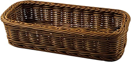 TOPBATHY Rattan Storage Basket Handwoven Rattan Box Utensil Makeup Organizer Multipurpose Woven Container for Makeup Cloth...