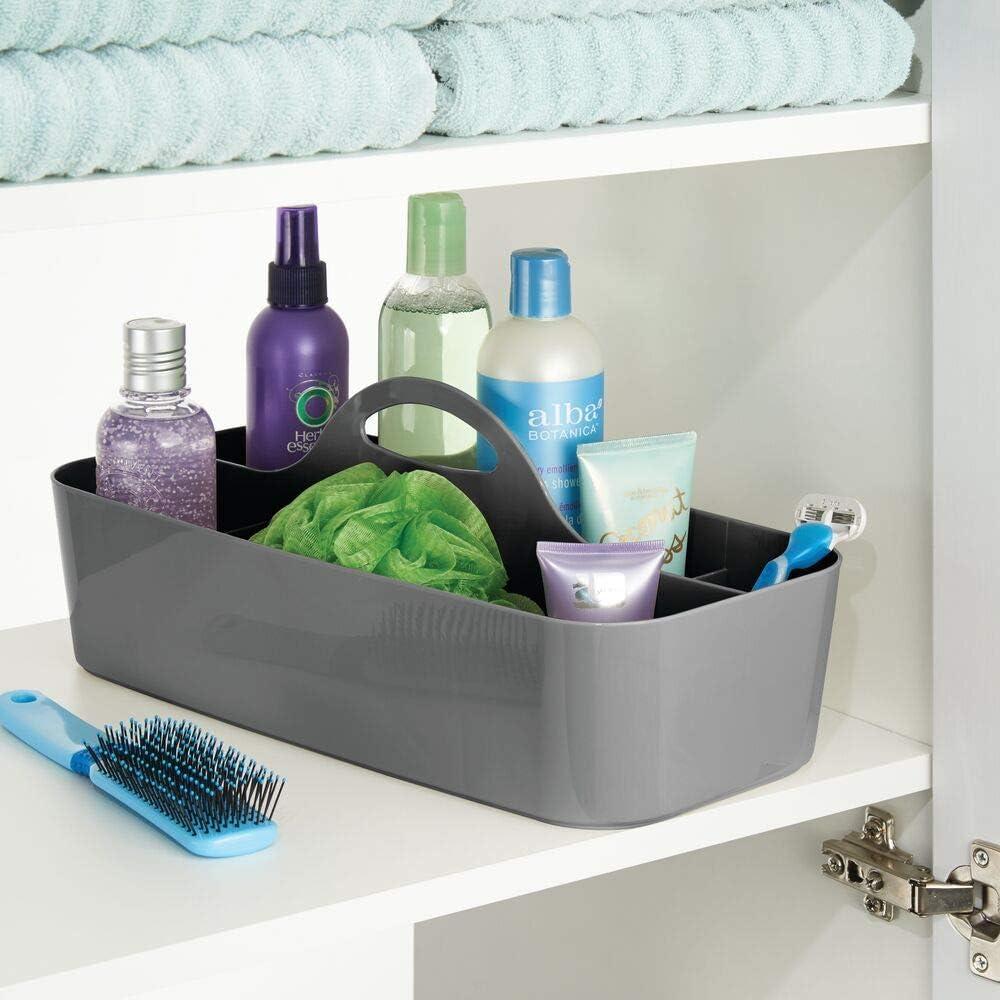 Amazon.de mDesign Badezimmer Korb mit Griff – als Kosmetik ...