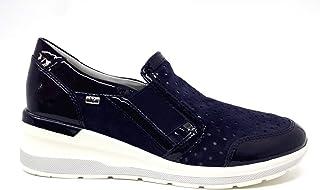 Valleverde Scarpa Donna Camoscio 18201 Sabbia o Blu. Una Calzatura Comoda Adatta per Tutte Le Occasioni. Primavera Estate ...