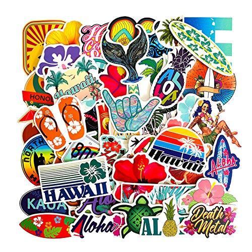 50 PCS Auto Styling Hawaii Surf Auto Aufkleber Vinyl Beach Club Laptop Reisegepäck Aufkleber Wasserdichtes Zubehör